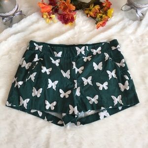 J.Crew Green And White Shorts Size 6